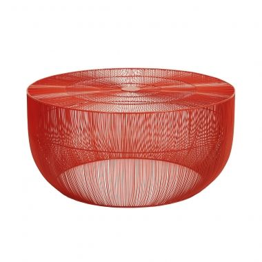 SASSON HOME - GOA ROUND COFFEE TABLE - ORANGE - Crate expectations