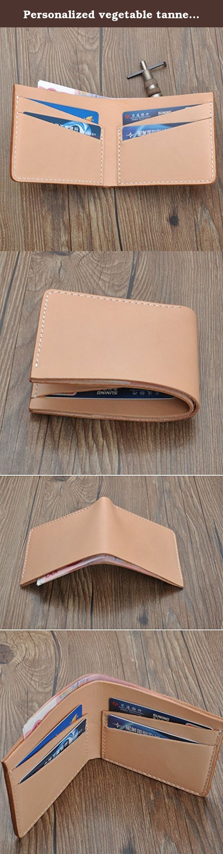 Personalized vegetable tanned leather men Bi-fold Wallet with card holder gifts billfold monogrammed leather wallet. This style leather wallet is designed to protect and carry your money ,credit cards very well .Each case will be tested before shipping .This case edge is polished and waxed twice to make it very smoothly. Features: 100% hand work 100% Italian leather soft Personalized instructions: 1 Please tell me your initials in the message box during checkout. 2 The default location is…