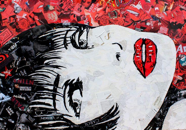 Paola Montanaro - Magazine Collage Art Valentina Crepax 100x70cm