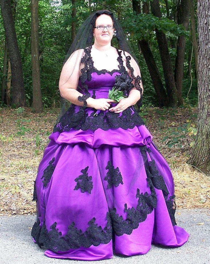 plus size purple gothic wedding dress | Wedding Dresses ...