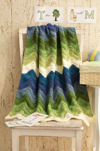 Ravelry: Ripple Crochet Baby Blanket pattern by Vanna White