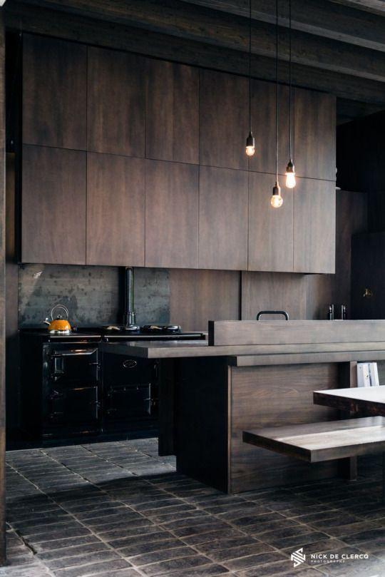 Dark Kitchen Design Photogr