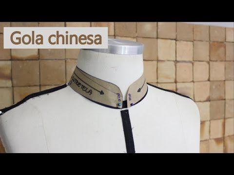 Como modelar gola chinesa - YouTube