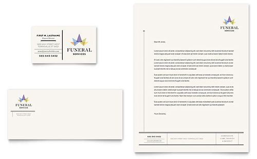 Funeral Services Letterhead Template