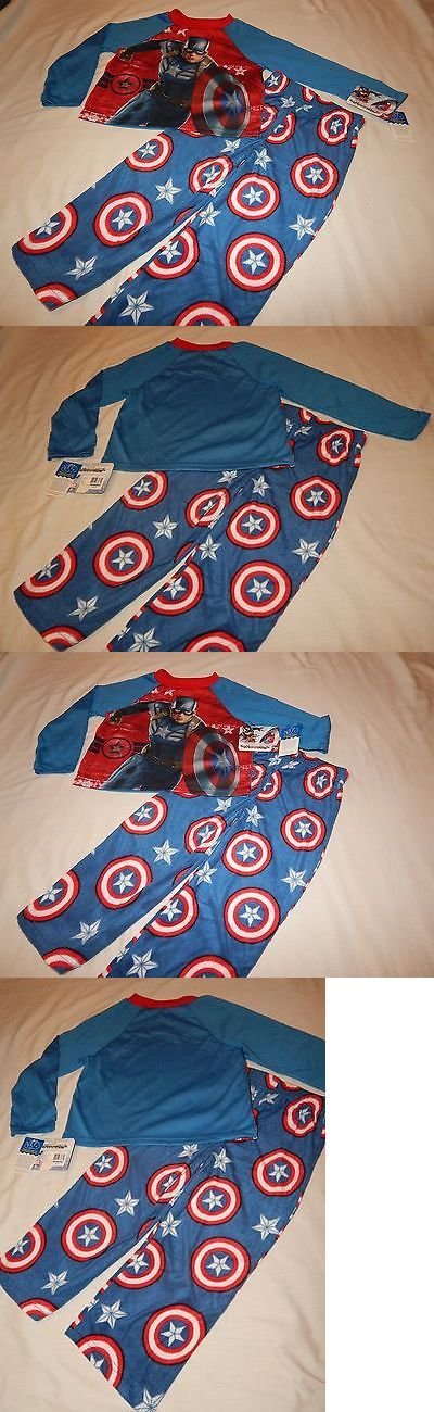 Sleepwear 84544: New Captain America 2 Pc Pajamas Outfit Boys Size 6 7 Pants Shirt Marvel Comics -> BUY IT NOW ONLY: $31.99 on eBay!