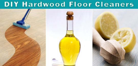 DIY hardwood floor cleaner.