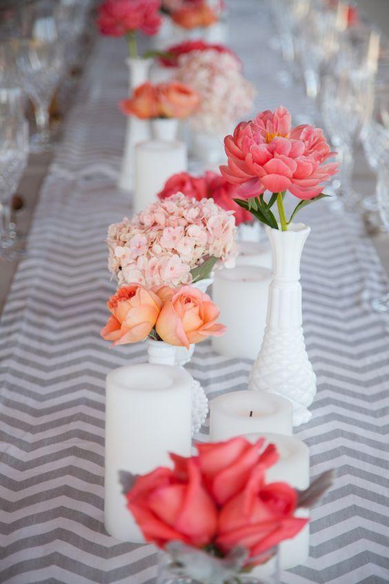 Photographer: Rachel Robertson Photography; Wedding reception centerpiece idea;