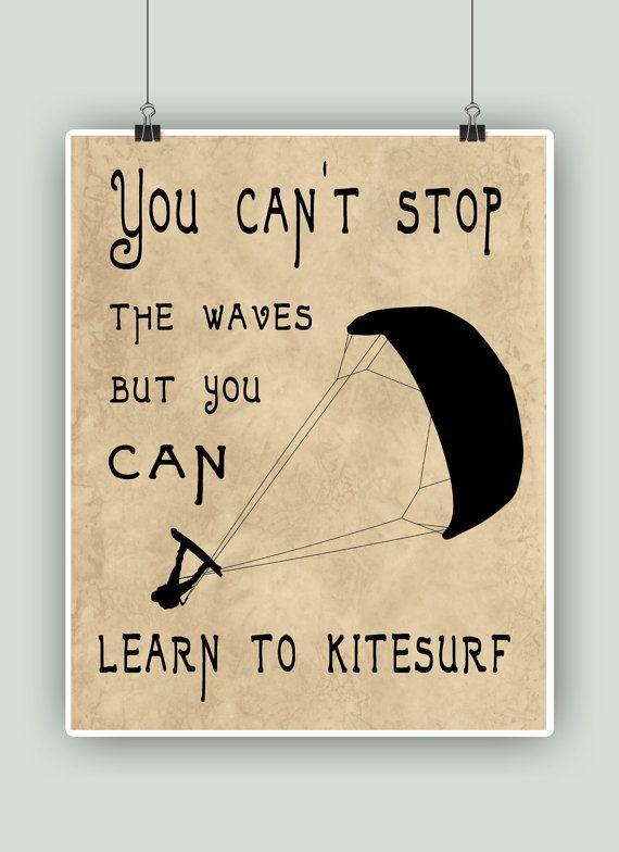 Impresión del arte del kitesurf no puedes parar por DigitalArtLand