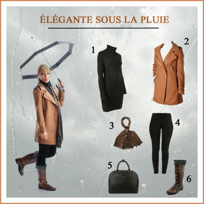 Élégante sous la pluie  #Look #Blog #Mode #Pluie #Rains #Femme
