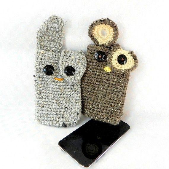 Crochet amigurumi pattern Ipod Iphone Pals Bunny or by TGLDdoll