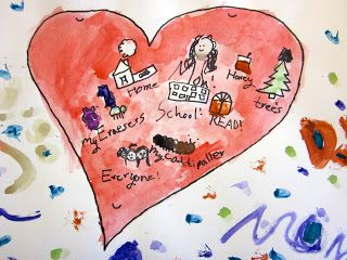 Art is Basic-- Art Teacher Blog: Map of My Heart-- Kindergarten