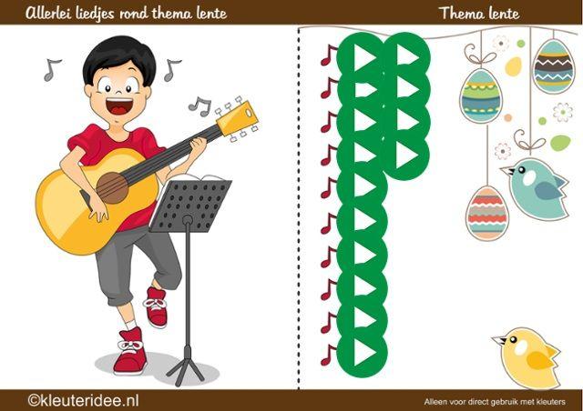 Allerlei liedjes rond thema lente, kleuteridee, by juf Petra (interactief)