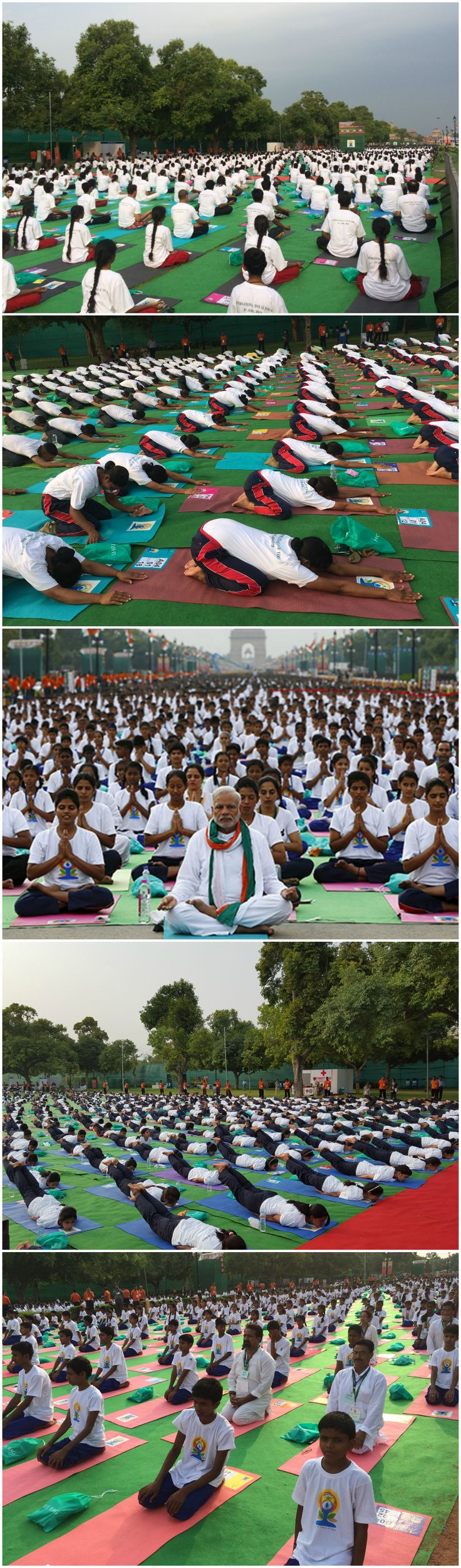 The Largest yoga lesson involved 35,985 participants at an event organised by the Ministry of AYUSH, Government of #India (India) on the occasion of the first International Day of #Yoga. The event had 5,000 school children, 5,000 national cadet corps, 5,000 central army forces, 1,200 women police officers, 5,000 union ministers and similar, 500 diplomats and foreign nationals, 15,000 from yoga institutions!    #yogainstructor #athletics #zen #peace #world #pilates #fit #fitness #relaxation