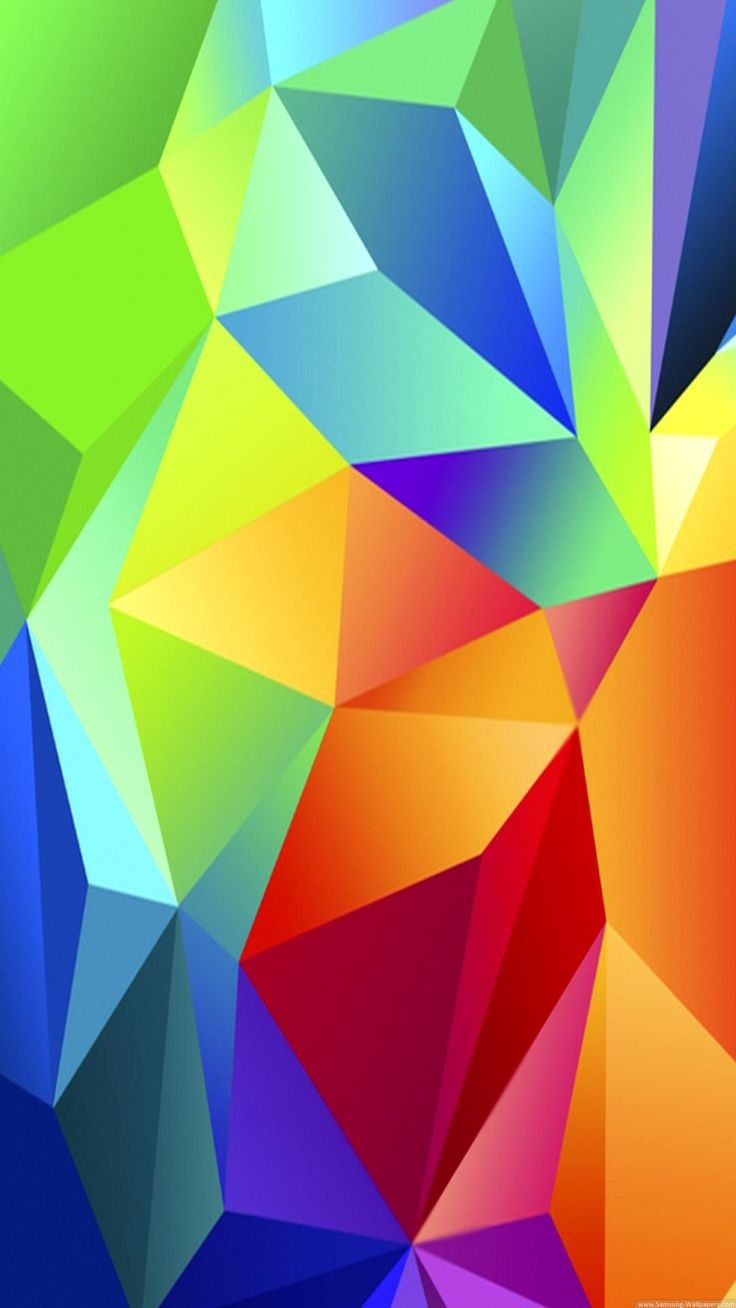 Colorful Red Blue Green Triangles iPhone 6 Plus HD Wallpaper