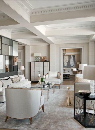 Elegant ecletic interior design by Jean-Louis Deniot. #frenchinteriordesign #architecturedinterieur