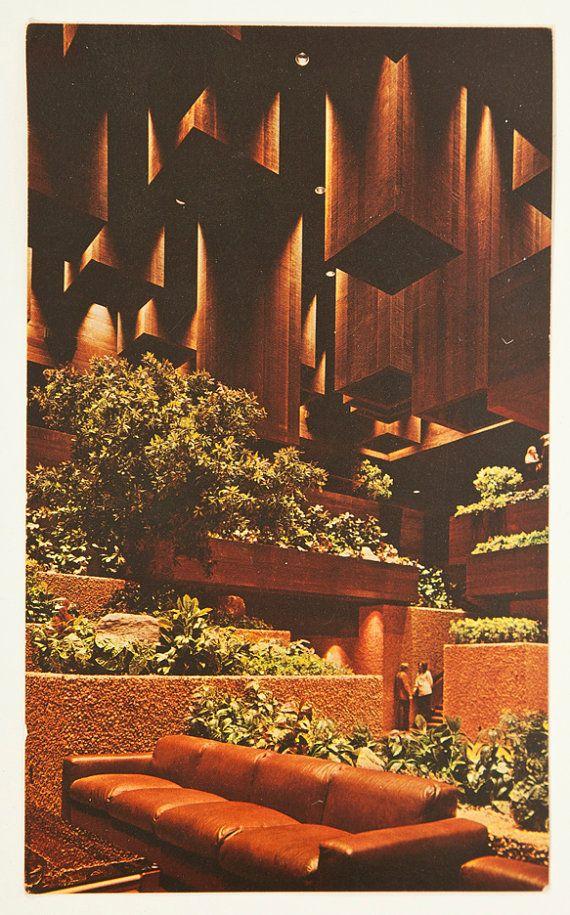 Vintage 1970s Mid Century Architecture Playboy Club Hotel