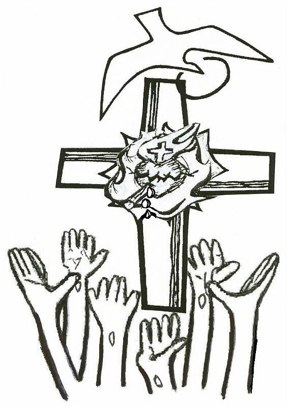 Cristo En La Cruz Blanco Y Negro