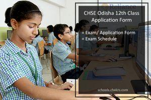 CHSE Odisha 12th Application Form 2017-18 Online Exam Registration Form