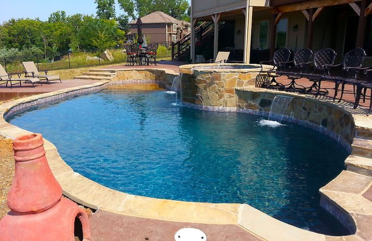 18 best swimming pools images on pinterest decks pools for Pool design kansas city