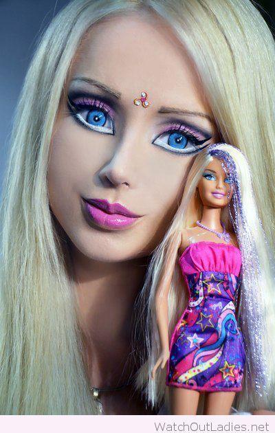 Pretty Barbie Halloween makeup totally for @Jaymxoxo