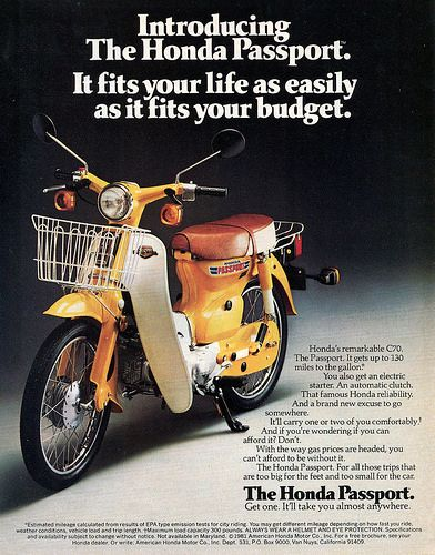 Honda C70 Passport ad. | Flickr - Photo Sharing!