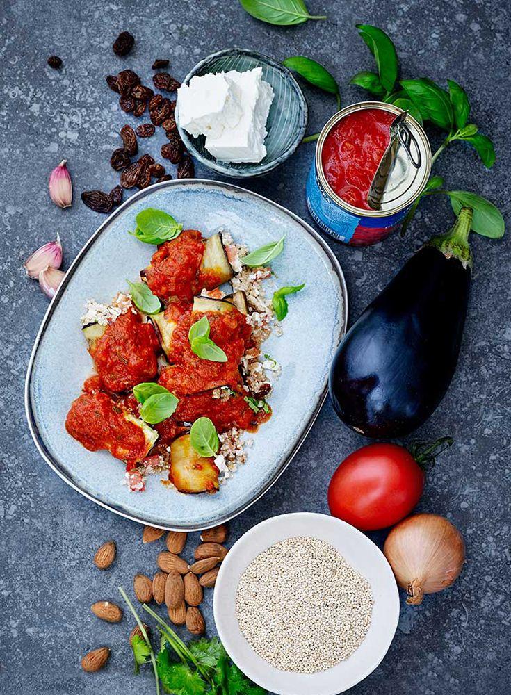 Gevulde auberginerolletjes met quinoa en tomatensaus https://simplyyou.carrefour.eu/nl/recept/gevulde-auberginerolletjes-met-quinoa-en-tomatensaus?utm_campaign=trv-w50-trf-oingoing&utm_medium=social&utm_source=pinterest-nl&utm_content=board%20veggy&utm_term=image