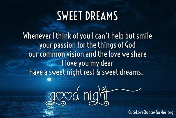 My love poem sweet dreams 42 Best
