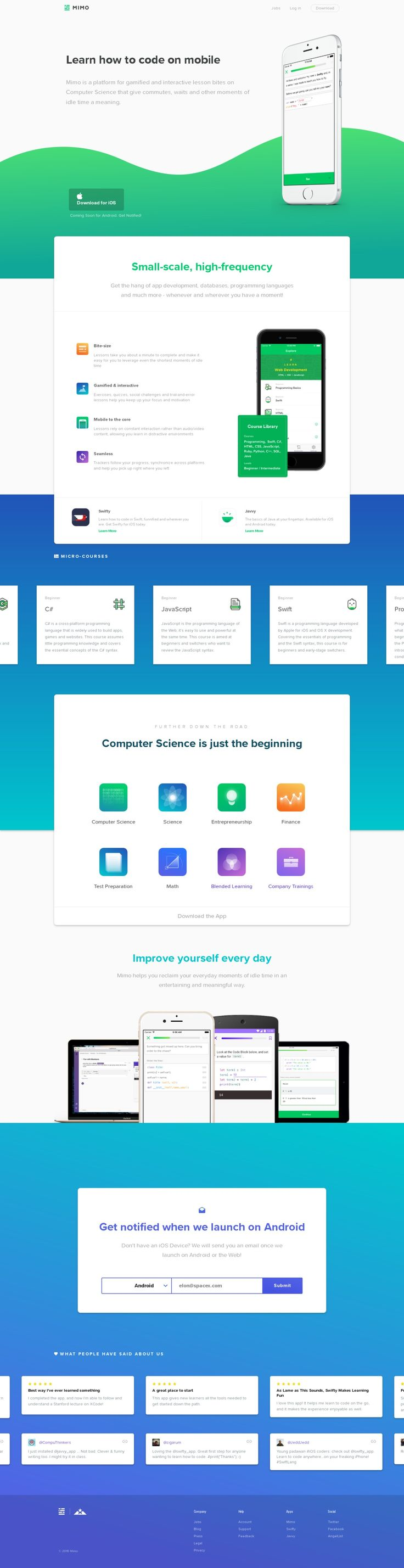 Mimo - Learn how to code on your phone