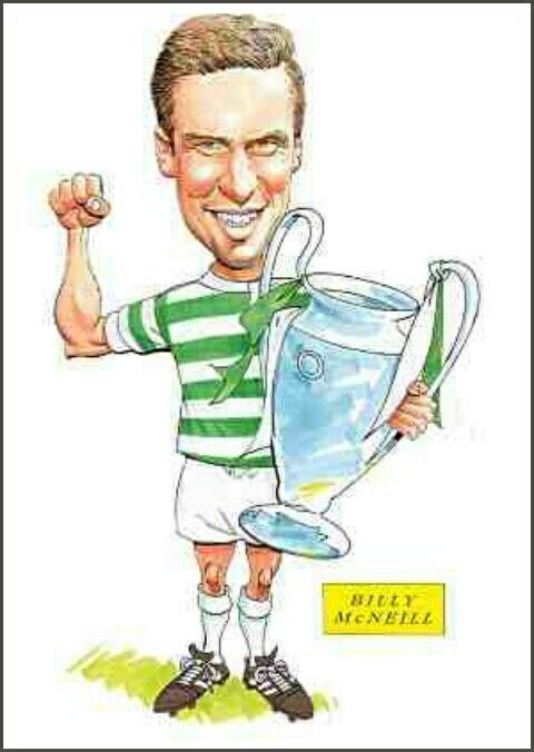Billy McNeill of Celtic in cartoon mode.