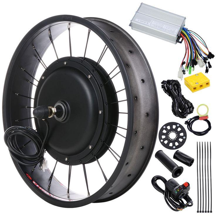 48v 1000w 20in Front Fat Tire Electric Bicycle Motor Kit