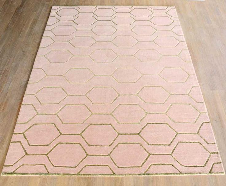 Wedgwood - Arris 37302 Pink / Gold Rugs | Modern Rugs