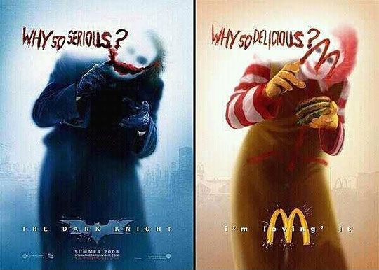 Why so delicious? Joker McDonald's Geekdom, Geek out, Fun, Funstuff, Nerd, Nerdy