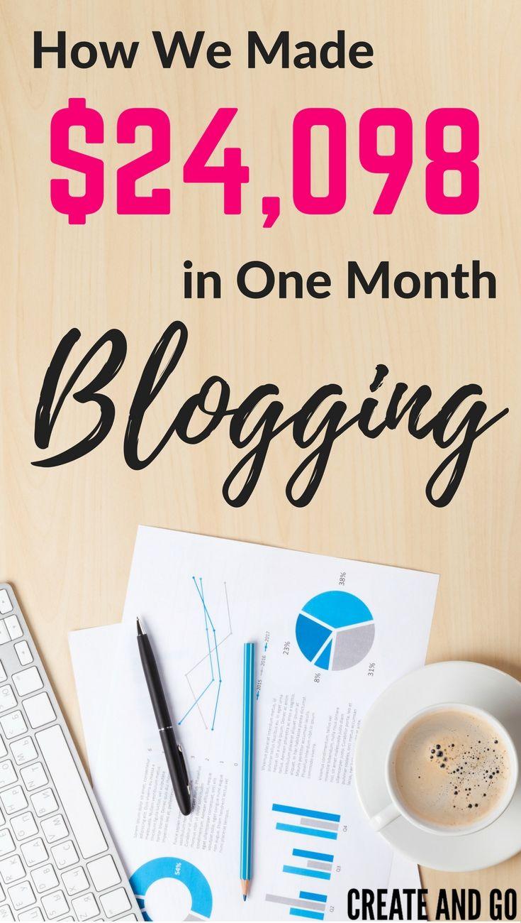 Blog Income Report August 2016  $24,098 Blogging Make Money
