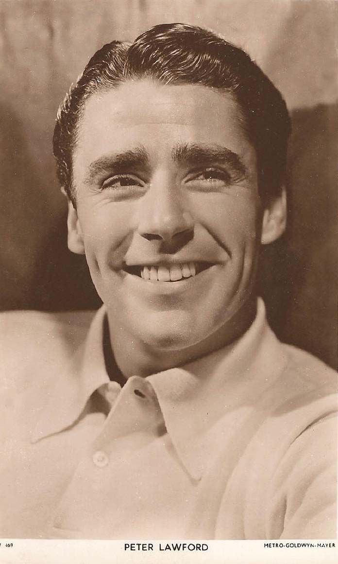 Peter Lawford, Film Actor (Movie Star) - (1923-1984) -  Born in England . Real name was Peter Sydney Vaughn Aylen. A member  of the renowned 'Rat Pack'. His first wife was Patricia Kennedy, which   made him a brother in law to John F. Kennedy.
