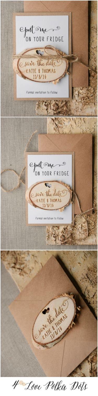 Put me on Your fridge - Wedding Save the Date card with wooden magnet #weddingideas #wedding #savethedate #magnet #wood #boho #bohemian #weddinginspiration