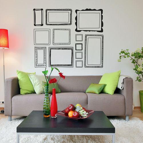 200 best images about vinilos decorativos on pinterest - Vinilos pared salon ...