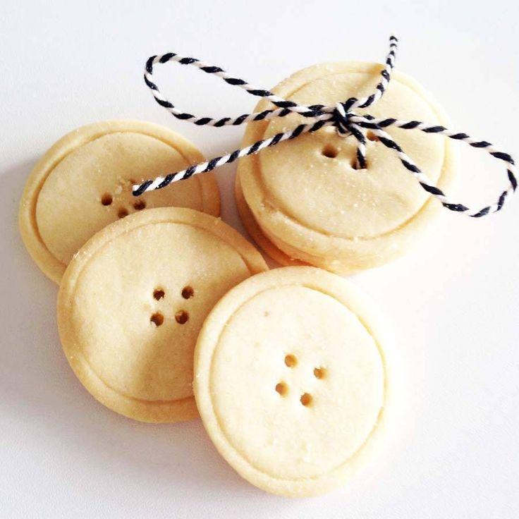 Handmade Shortbread Button Biscuits