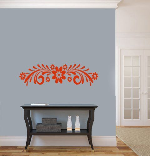 Housewares Vinyl Decal Floral Pattern With Flower Pattern Home Wall Art  Decor Removable Stylish Sticker Mural