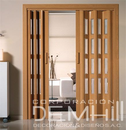 25 best ideas about puertas corredizas plegables on - Puertas acordeon madera ...