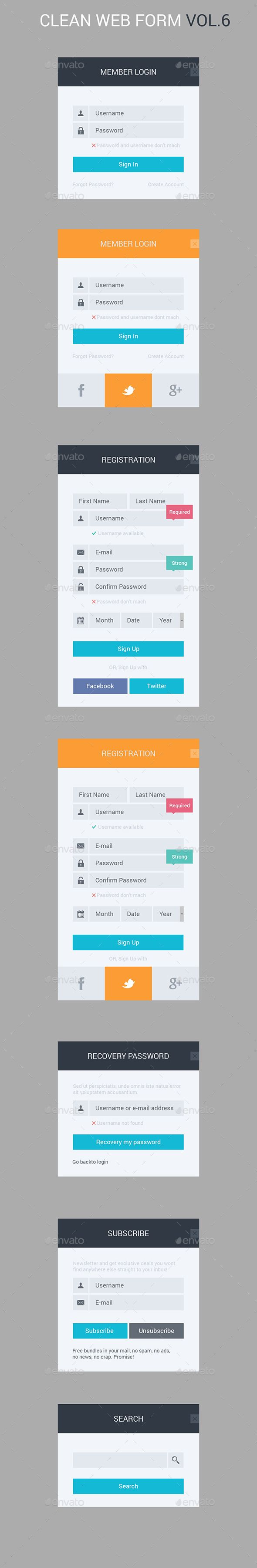 Best Login Form Images On   User Interface Design