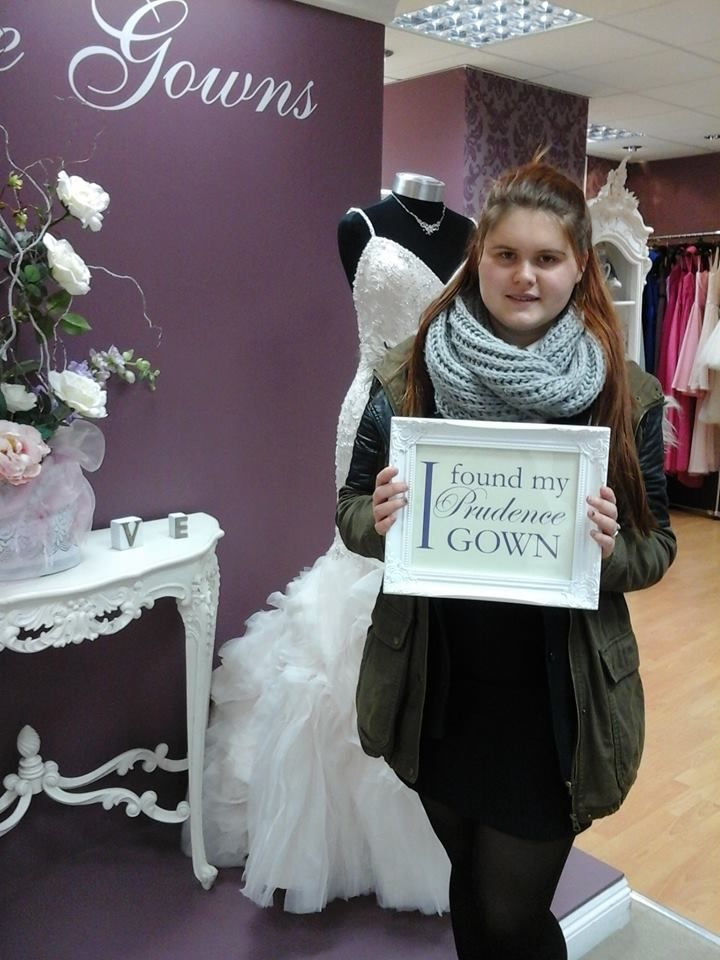 Anastasia found her #promdress for her #prom in our #Plymouth store today. YAY! #DressingYourDreams #PrudenceGowns