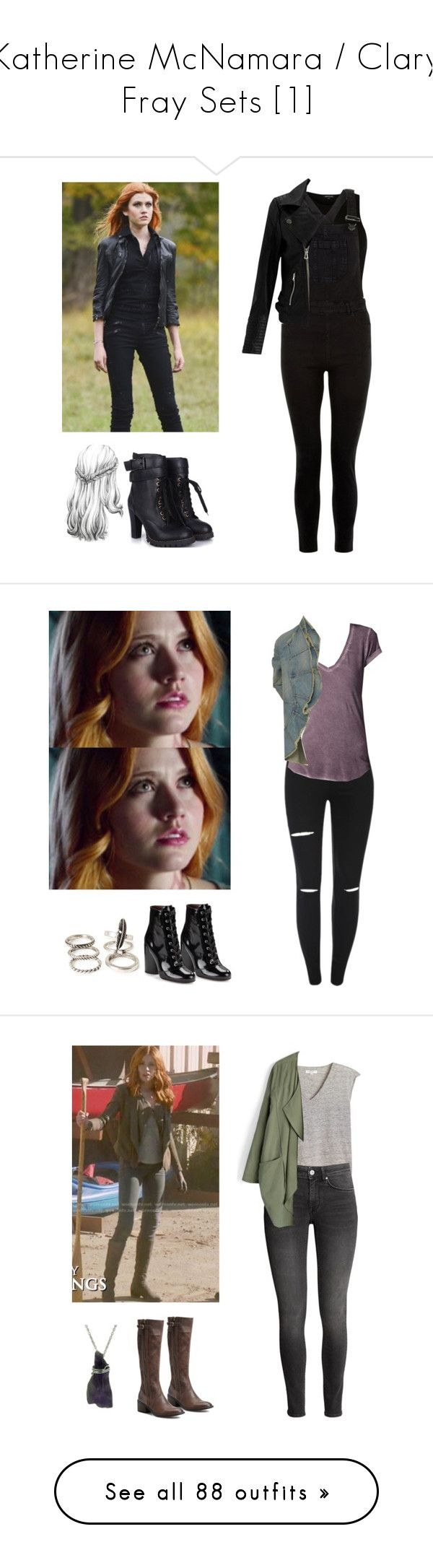 """""""Katherine McNamara / Clary Fray Sets [1]"""" by demiwitch-of-mischief ❤ liked on Polyvore featuring River Island, New Look, Miss Selfridge, Forever 21, Marc Jacobs, Børn, Chicwish, Doublju, Topshop and GG 750"""
