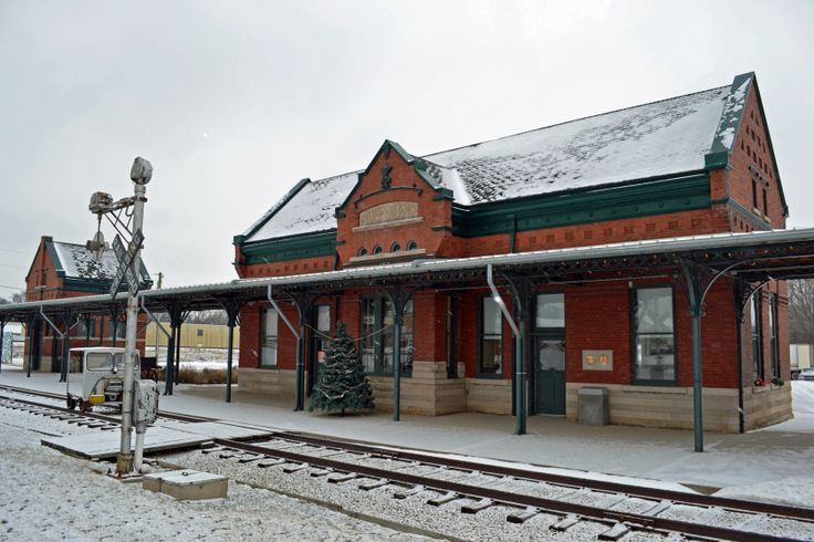 The historic train depot in Independence