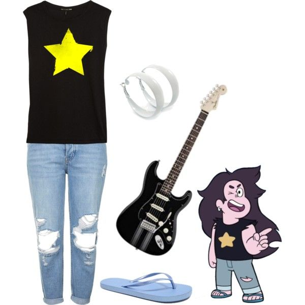 Steven Universe: Young Greg by knight-of-breath on Polyvore featuring rag & bone, Topshop and KENNY