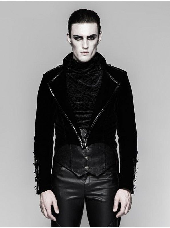Want to grab an authentic gothic Victorian look with this amazing Bleeding Heart Tail Jacket? Witchcraft our emo Military Black Gothic Tail Jacket by Punk Rave. Enrich your wardrobe from http://bit.ly/gothicmilitary