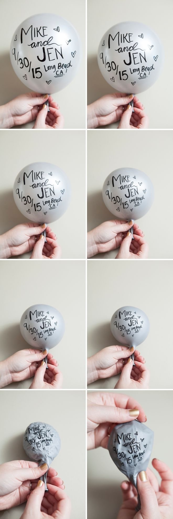 DIY - Sharpie Balloon Save the Date Invitation + FREE download and print files!
