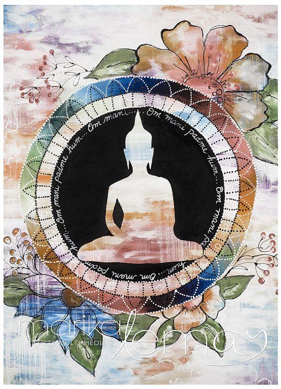 Giclée/reproduction Bouddha 3 par MarikaLemayArtiste sur Etsy