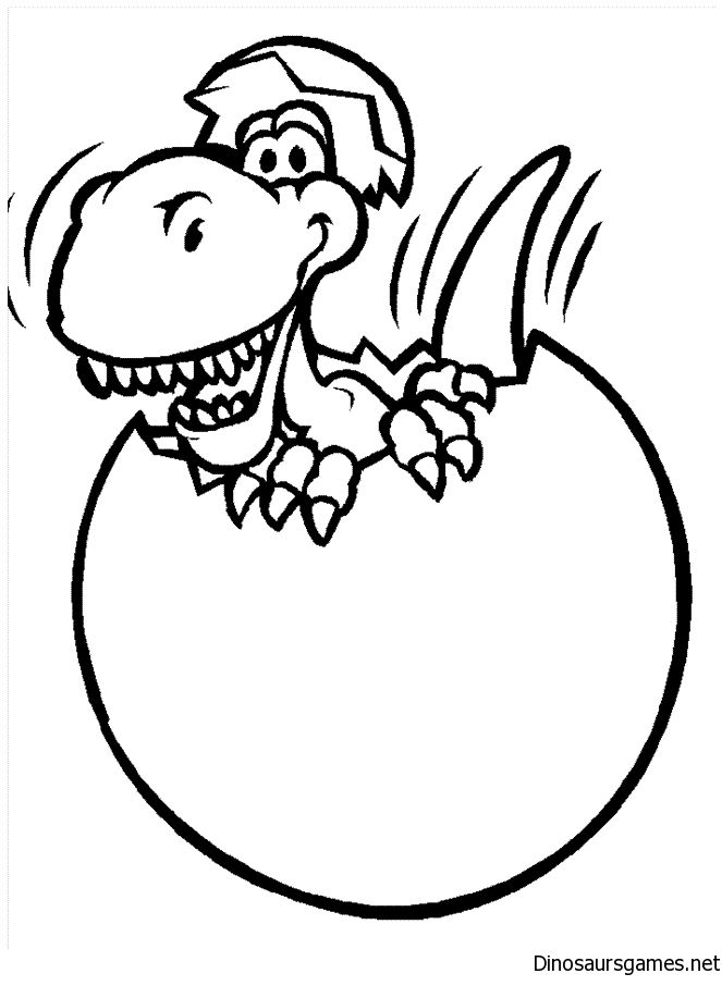 Cute Dinosaur Easter Coloring Page Dinosaur Coloring Pages Animal Coloring Pages Fruit Coloring Pages