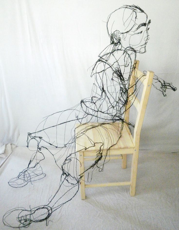282 best Wire Sculpture images on Pinterest | Wire sculptures, Metal ...