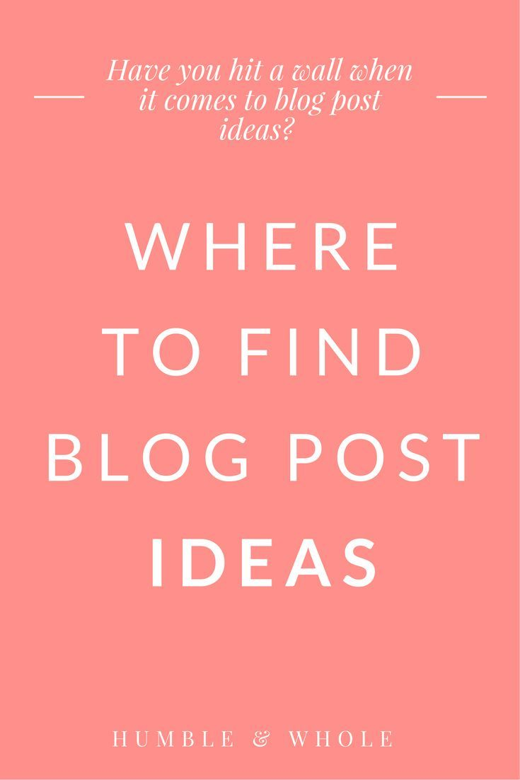 Are you stumped about what to write next for your blog? Check out these 8 places to find the best blog post ideas and inspiration.